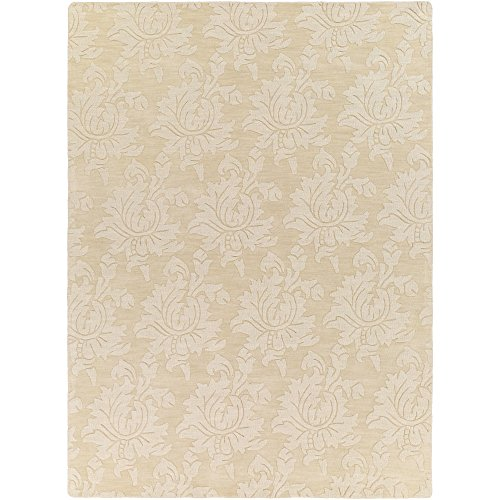 Surya Mystique Transitional Hand Loomed 100% Wool Lima Bean 8' x 11' Area Rug