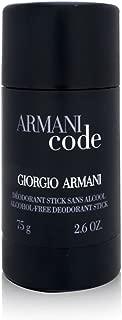 Armani Code by Giorgio Armani For Men. Alcohol Free Deodorant Stick 2.6-Ounces