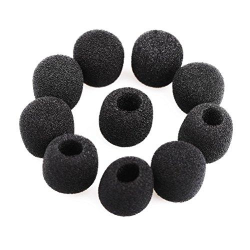 ROSENICE Microphoone Windschutz mic Windschutz Abdeckung Foam,15pcs(Black)