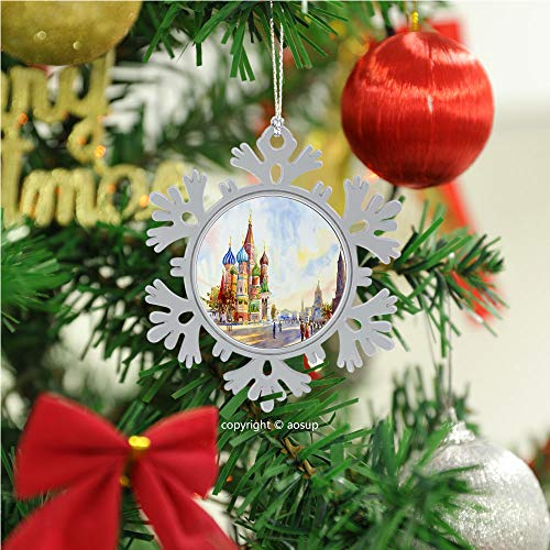 SUPNON Kremlin and Cathedral/Christmas Ornament 2020 Xmas Tree Topper Hanging Decoration Merry Christmas Elk Snowflake Gifts for Home Festival Fantastic Romantic Indoor Decor №SW174505