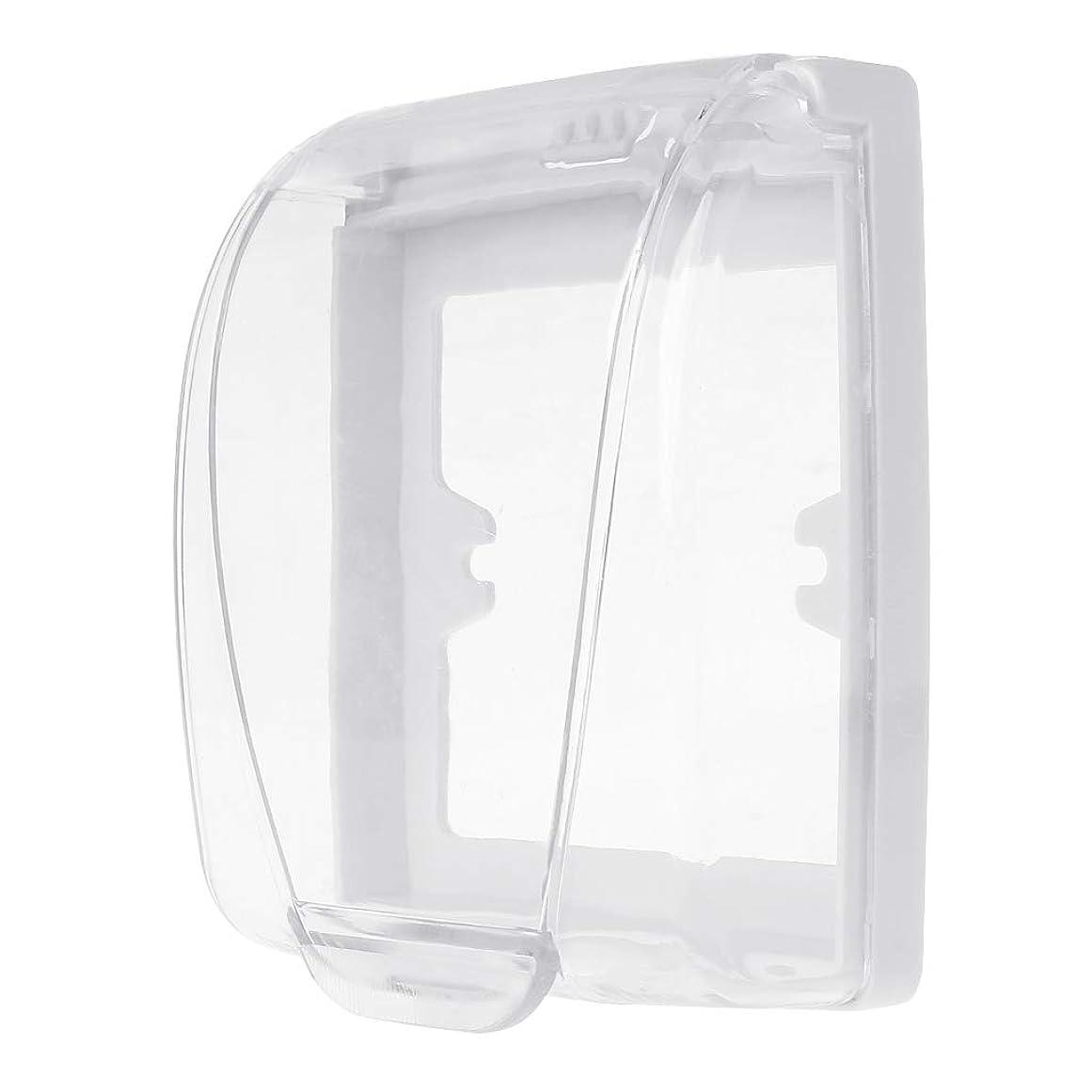 逆祭司ふりをするLamdooプラスチック壁防水カバーボックス壁ライトパネルソケットドアベルフリップキャップカバークリア浴室キッチンアクセサリー