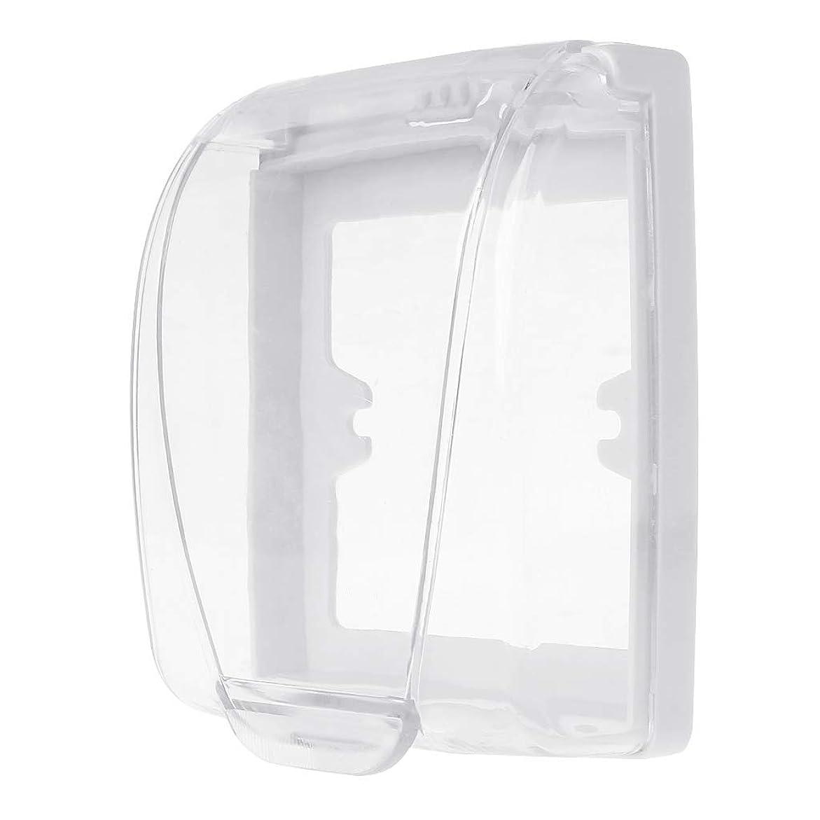 屋内で接ぎ木尊厳Lamdooプラスチック壁防水カバーボックス壁ライトパネルソケットドアベルフリップキャップカバークリア浴室キッチンアクセサリー