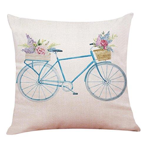 Hello Spring Housse de coussin Throw Taie d'oreiller Taie d'oreiller Canapé Décoration de maison, Mélange lin, F, 45 * 45cm