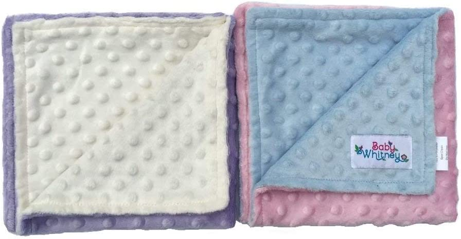 Made with Minky Dot fabric Name can be added at no cost The Poky Little Puppy Patchwork Baby Blanket Size: 27 X 27