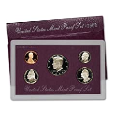 """1988-S US Mint Proof Set Complete Original US Mint packaging including Certificate of Authenticity Contains 5 coins in stunning proof condition, displayed in one protected lense Each of these 1988-dated coins bears the """"S"""" mint mark of the United Sta..."""