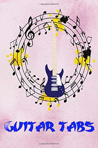 Easy Guitar With Notes Tab: Blank Guitar Tabs Size 6x9' ~ Easy - Music # Tab ~ Matte Cover Design White Paper Sheet 120 Page Very Fast Print.