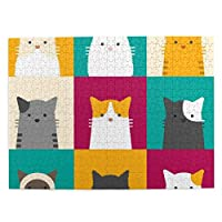 猫柄 ネコ 可愛い かわいい 漫画 500ピースジグソーパズル 大人向け 減圧玩具 家の装飾 パズル 人気 パズルゲーム 知育おもちゃ