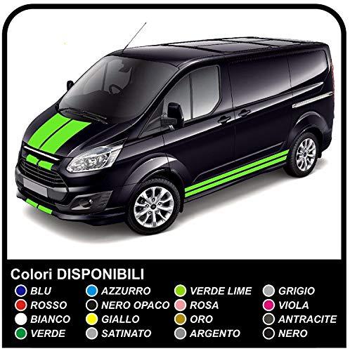 GRAFIC Custom Sports Van Graphics Van Sticker Aufkleber Van Camper Vans (SCHWARZ MATT)
