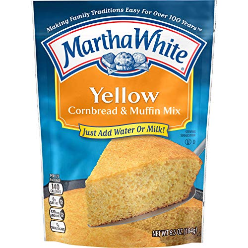 Martha White Yellow Cornbread and Muffin Mix, 6.5 Ounce (Pack of 12)