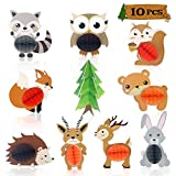10 PCS Woodland Animal Honeycomb Centerpieces...