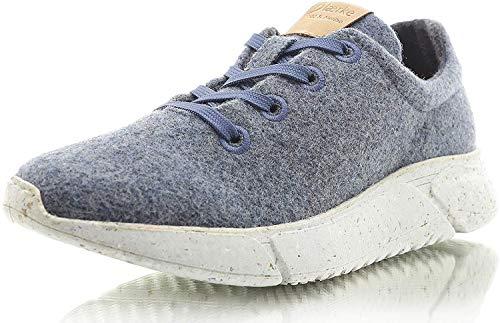 Laerke Merino Sneaker PLK004 Women, Jeans/Grey, 39 EU