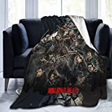 VARUN Lightweight Blanket with The Walking Dead Pattern Throw for The Bed Quilt Ultra-Soft Micro Fleece Blankets for Kids Adults Durable Comfortable King Size Super Soft Warm Blanket