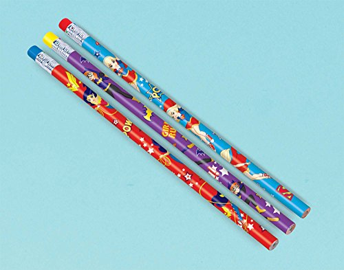 Price comparison product image amscan Pencil Favor / DC Super Hero Girls Collection / Party Accessory