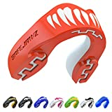 SAFEJAWZ Mouthguard Slim Fit, Adults and Junior Mouth Guard with Case for Boxing, Basketball, Lacrosse, Football, MMA, Martial Arts, Hockey and All Contact Sports (Viper, Youth (Up to 11 Years))