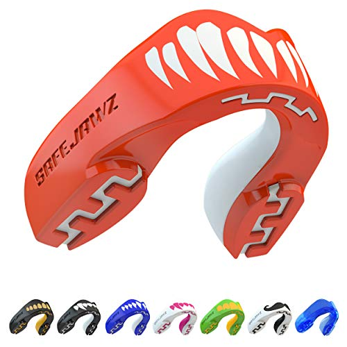 SAFEJAWZ Sport Zahnschutz Erwachsene und Kinder Sport Mundschutz Für alle Vollkontakt-Sportarten einschließlich Rugby, MMA, Kampfsport, Kickboxen, Judo, Hockey & Boxen (Viper, Erwachsene (12+ Jahre))