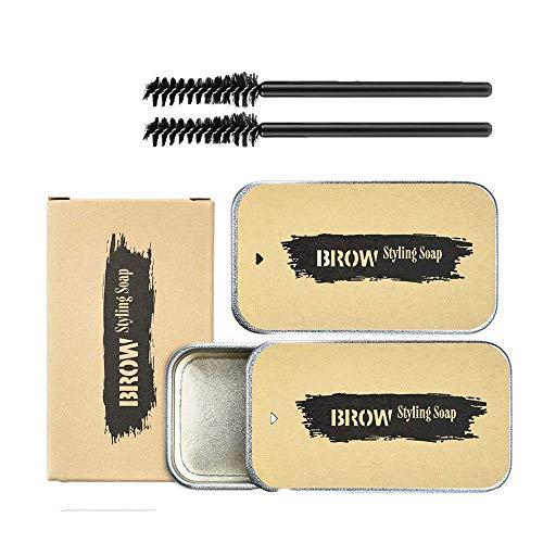 2 Stücke Eyebrow Shaping Soap, 3D Augenbrauen Make-up Gel, Augenbrauen Styling Seife, Langlebige...