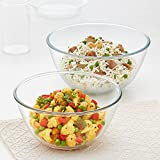 MADE OF THE HIGHEST QUALITY BOROSILICATE GLASS - Borosil's entire range of mixing and serving bowls is made of the highest quality borosilicate glass, which is extreme temperature resistant (-20°C in the freezer to 350°C in the oven) and extremely to...
