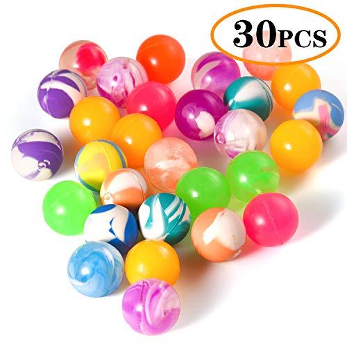 FEPITO 30 Stücke Bouncy Balls Bunte Gummibälle Bouncy Ball Party Tasche Füllstoffe für Kinderpreise, Geburtstagsfeier Tasche Füllstoffe (22 MM)