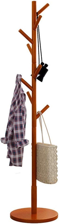 Standing Coat Racks Standing Coat Rack high 175CM solid wood 8 hooks Hall Trees entryway Coat Stand Clothes Rack bedroom living room clothes hat scarf umbrella stand multifunctional storage rack -0223