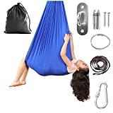 Indoor Therapy Swing for Kids Sensory Swing for Children (Hardware Included) with Special Needs,Snuggle Hanging Cuddle Hammock for Autism, ADHD, Asperger's Syndrome and SPD (Royal Blue)