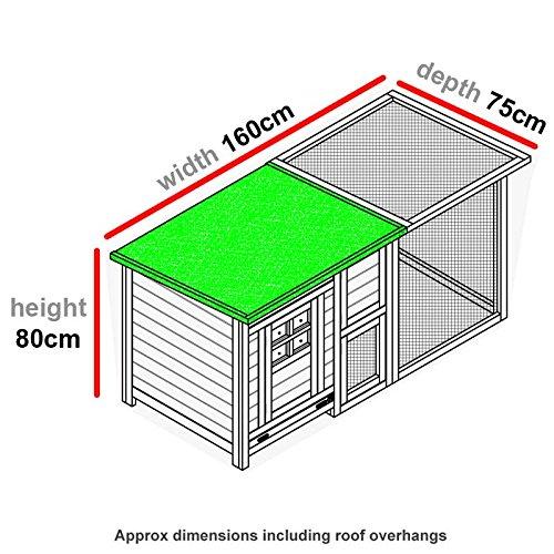 FeelGoodUK Hühnerhaus mit einem Dach vollständig öffnen – Schönes Modell mit integrierten Lauf und Reinigungsanwendungen und Nacht Tür – CH14 NATURAL & EXT DE - 5