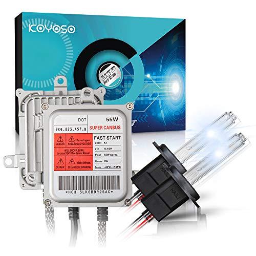 Koyoso H7 Xenon Lampadine Canbus Kit di Conversione HID 55W Premium Decodifica Reattori Lampade di Avvio Rapido 5000K