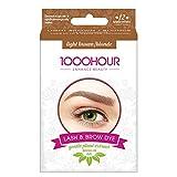 1000 Stunden Augenbrauen- und Wimpernfarbe - sanfter Extraktpinsel im Set - braunschwarz