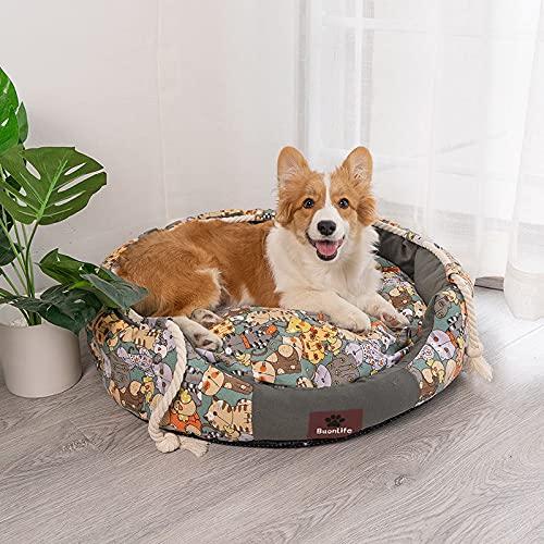 Buonlife - Cama para perro y gato desmontable y lavable, con cojines...