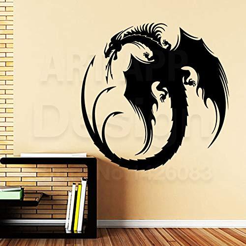 YuanMinglu Hohe qualität wohnkultur Kunst Vinyl Tier Drachen wandaufkleber abnehmbare Dekoration kreative Totem im Schlafzimmer 33,6X33,6 cm