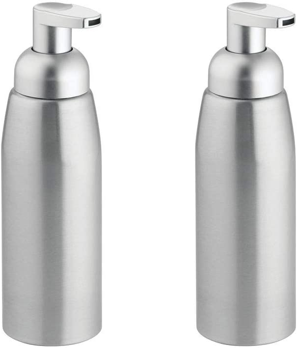 13 opinioni per mDesign Set da 2 Dispenser sapone a schiuma – Elegante portasapone in alluminio