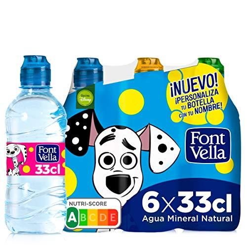 Font Vella, Agua Mineral con tapón infantil - Pack 6 x 33cl