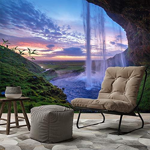 Bilderdepot24 Fototapete selbstklebend Seljalandfoss Wasserfall auf Island - 200x150 cm   Moderne Wand-deko Dekoration Wohnung Wohnzimmer Wandtapete  