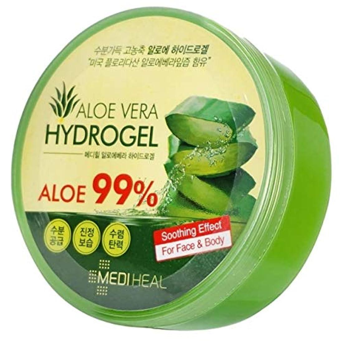 コーンアコーここにMediheal メディヒール Skin Soothing なだめるような & Moisture 水分 99% Aloe アロエ Vera Hydro Gels ハイドロゲル