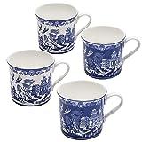 Grace Teaware Blue Willow Bone China Coffee Tea Mugs...