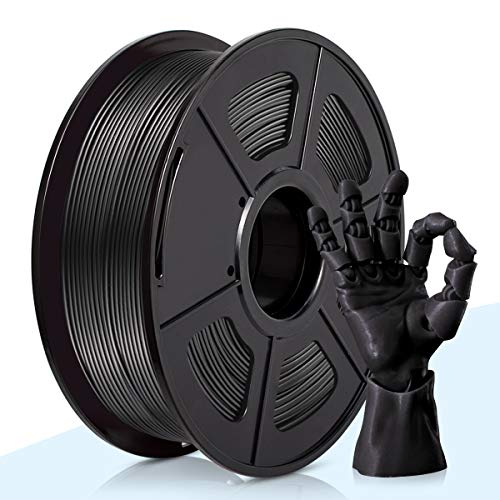 PLA Filament Noir,3D Warhorse PLA Filament 1.75mm,PLA 3D Printer Filament,Dimensional Accuracy +/- 0.02 mm,1KG(Spool),1.75mm Filament