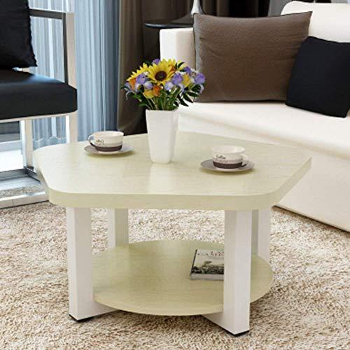 SDWCWH Home Stehtisch, Zwei Schichten Massivholz Kleiner Couchtisch, Wohnzimmer Kleiner Tisch, Praktischer Schreibtisch,Weißer Ahorn