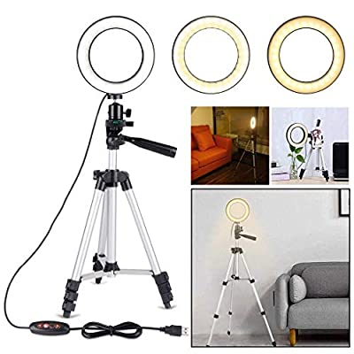"5.7"" Selfie Ring Light with Tripod Stand  C..."