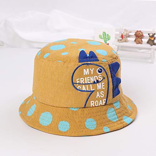 Neue Kinder Flat top Hut Cartoon Form großen Hut männer und Frauen Baby Mode Sonnenhut kurkuma 48 cm geeignet