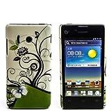 numerva kompatibel mit Huawei Ascend Y300 Hülle Motiv Case Ascend Y300 Schutzhülle Strass QJC-027