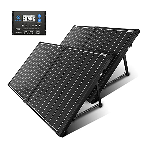 ACOPOWER 200W Portable Solar Panel Kit, Waterproof 20A Charge Controller for Both 12V/24V Battery and Solar Generator for RV, Camper Trailer& Marine