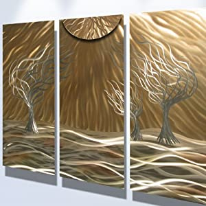 Metal Wall Art Modern Home Decor Abstract Wall Sculpture 3 Trees 36 Amp Quot Click To View