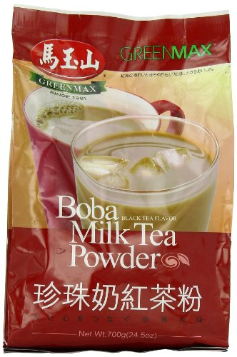 Greenmax Boba Milk Tea Powder, Black Tea, 24.5 Ounce