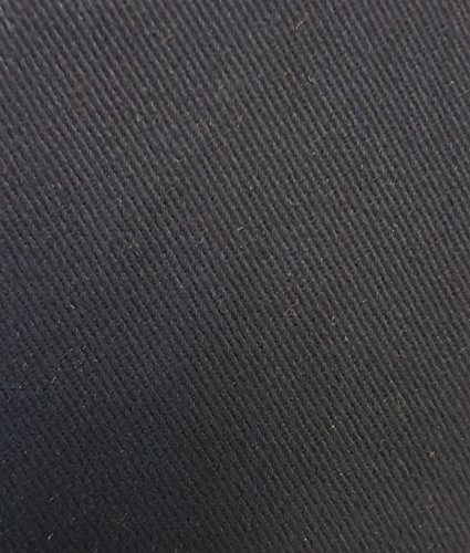 Navy 100% Cotton Drill Heavy Weight Fabric - Sold per Meter