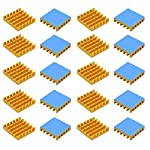 20pcs Aluminum Heatsink 22x22x5mm / 0.87x0.87x0.2 inches with Thermal Conductive Adhesive Tape for Electronic Chip MOS IC Diode Triode Cooling Heat Dissipation