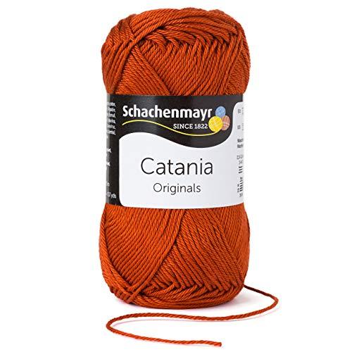 Schachenmayr Catania 9801210-00388 terracotta Handstrickgarn, Häkelgarn, Baumwolle