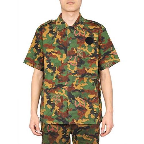 OFF-WHITE Luxury Fashion Uomo OMGA107R203620019900 Verde Cotone Camicia | Primavera-Estate 20