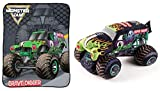 Jay Franco Monster Jam Grave Digger Stuffed Pillow Buddy and Throw Blanket Bundle