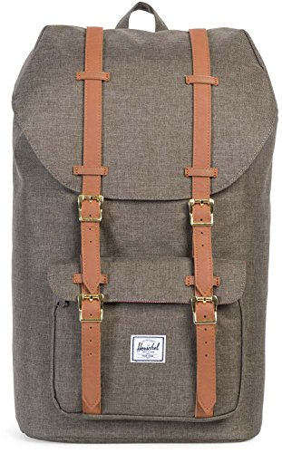 Herschel Supply Co. Rucksack Little America, Canteen Crosshatch/Tan Synthetic Leather (grau) - 10014-01247-OS