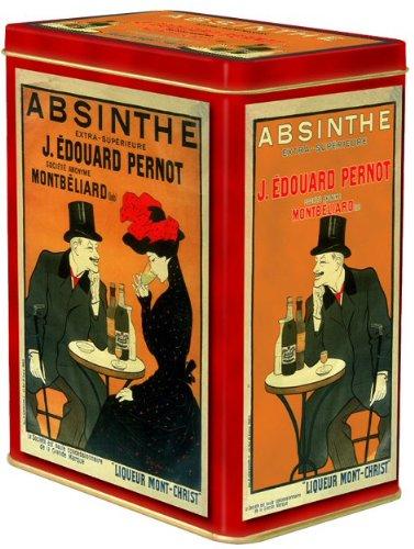 boite metal decorative 12x8x15 cm pub retro absinthe edouard pernot