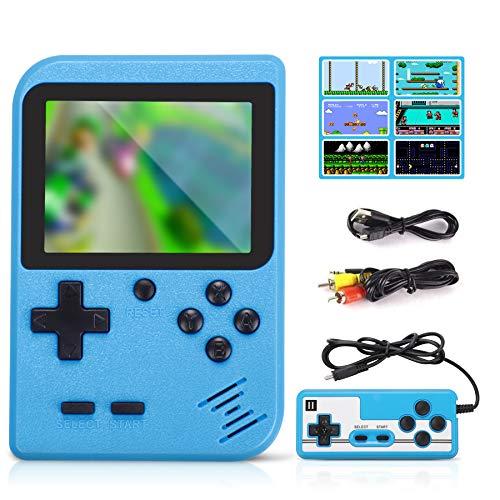 Fivejoy Console Portatile, Videogiochi con 400 Giochi Games Console Boy Console Giochi con USB 1020 mAh Ricaricabile e Portatile Retro FC Game Console Portatili per Bambini Adulti